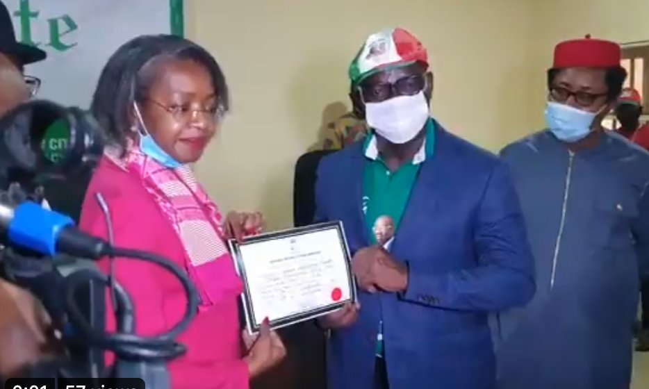 INEC Present Certificates Of Return to Obaseki, Shuaib